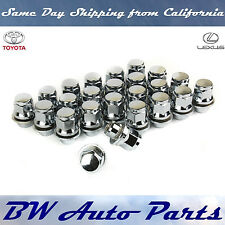 24 PCs TOYOTA-LEXUS OEM/FACTORY STYLE CHROME MAG LUG NUTS WITH WASHERS 12X1.5MM