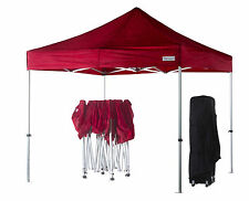 3m x 3m Red Poptents Heavy Duty Pop up Marquee Market Tent / Stall / Gazebo