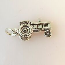 .925 Sterling Silver 3-D TRACTOR Charm NEW Pendant Farm 925 VH15