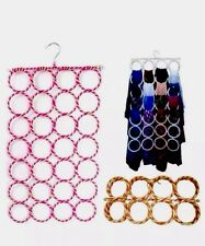 Scarf Hanger Display Ties Shawl Belts Circle Storage Holder 28 Holes Multicolour