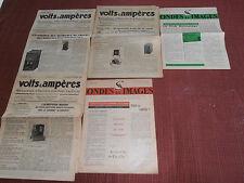 lot de journaux - documents pub - radio - télévision vintage   ( ref 21 )