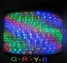 "150"" FEET LED Rope Lights R+G+Y+B COLORS 1/2"" /13MM 1656 LEDs With Accessories"