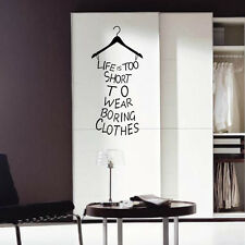 Black DIY Art Wall Decals Clothes Hanger Sticker Home Decoration Removable Vinyl