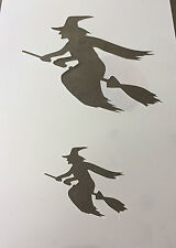 Witch Halloween Mylar Reusable Stencil Airbrush Painting Art Craft DIY home