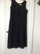 LADIES EVENING DRESS LONG BLACK BY ELVI SIZE 20