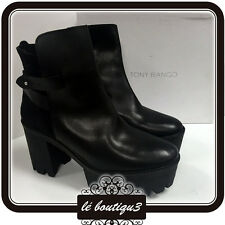 TONY BIANCO Black Ankle Boots Size 41 or 10