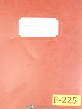 Fellows 4S, Fine Pitch Gear Shaving Machine, Parts Lists Manual Year (1951)