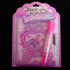 NEW Mini Diary with Lock & Secret Pen in Princess Design from Pecoware