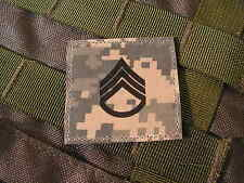 Galons velcro US - STAFF SERGEANT - grade scratch ACU DIGITAL rank insignia
