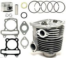 150cc GY6 Cylinder & Head 57.4mm Piston Gasket Assembly Kit ATV Scooter Go Kart