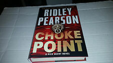 A Risk Agent Novel: Choke Point by Ridley Pearson (2013, Hardcover) SIGNED