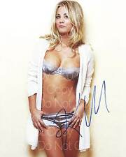 Kaley Cuoco signed sexy hot beautiful 8X10 photo picture poster autograph RP 2