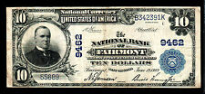 1902 $10 Large Size West Virginia National Banknotes