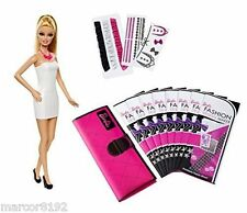 Barbie Doll & Fashion Design Maker with Printable Fabric New Mattel