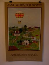 """Vintage poster by Jane Wooster Scott """"A World in Bloom"""" American Naives"""