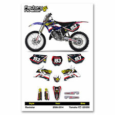 2006-2014 YAMAHA YZ 125-250 Team Rockstar Motocross Dirt Bike Graphics kit Decal