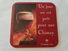 Beer Bar Coaster ~*~ CHIMAY Brewery Authentic Trappist Ales ~ Baileux, Belgium