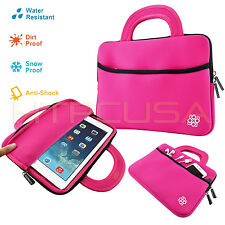 "10"" Inch Pink Tablet Neoprene Handle Case Sleeve Bag for New Apple iPad Air"
