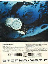 Publicité Advertising 1965  Montre ETERNA MATIC  Kon Tiki Dato
