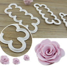 Cake Decorating Fondant Gumpaste Easiest Rose Ever Cutter 3pcs