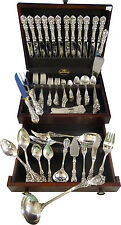 FRANCIS I REED & BARTON STERLING SILVER DINNER FLATWARE SET SERVICE 123 PCS OLD