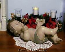 "Lovely OLIVE SKINNED 16"" BABY JESUS GARDEN STATUE NATIVITY PIECE ~ Just Add Crib"