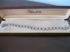 Vintage ELCO Sterling Silver Triple Link starter CHARM BRACELET NOS w/orig box