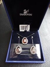 New Swarovski mimosa long pierced earrings and necklace set