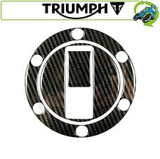 NEW MOTORCYCLE FUEL FILLER CAP COVER DECAL CARBON EFFECT TRIUMPH 6 HOLE DESIGN