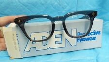 ADEN PROTECTIVE EYEWEAR SAFETY GLASSES HORN RIM VTG STYLE NOS S5044-20-ACP