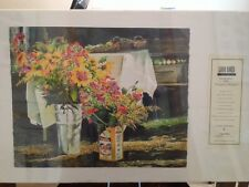Linda Baker Michigan Farmers Market Limited Edition Giclee Print Flowers Floral
