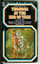 THONGOR AT END OF TIME by Lin Carter, rare British Conan type pulp vintage pb