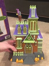 Rare Gemmy Animated Spooky House Halloween Prop LED Lights Sound Witch Haunted