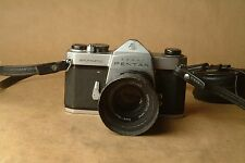Pentax Spotmatic with 55 f1.8 lens and hood