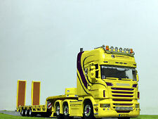 "WSI TRUCK MODELS,SCANIA R6 TOPLINE 6x2 SEMI LOW LOADER WITH RAMPS ""HARDEMAN"""