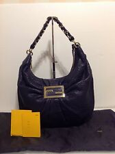 Authentic Large Fendi Hobo Bag. Navy Lambskin Leather. Ex Cond. RRP £1180
