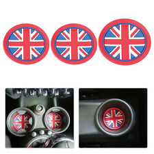 New 3x Anti-Slip Cup Mat Pad Jack Union For Mini Cooper JCW R55 R56 R57 R58 R59