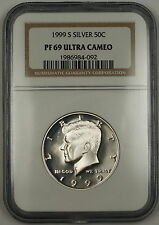 1999-S Proof Kennedy Silver Half Dollar 50c Coin NGC PF-69 Ultra Cameo