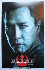 DONNIE YEN SIGNED 11x17 INCH PHOTO DC/COA (ROGUE ONE A STAR WARS STORY) PROOF