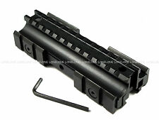 China Made Airsoft Aluminium Tri-Rail See Through Raise Rail Mount For 20mm #12