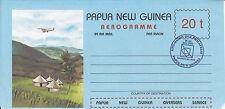 Papua N. Guinea, Cristmas Island, 2 Aerogramme, gute  Erhaltung,siehe Scann