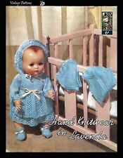 1950's Vintage Knitting Pattern Lister Lavenda 317 Doll's Clothes PDF RARE