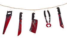 Girlande blutiges Werkzeug Tolle Deko zur Halloweenparty!