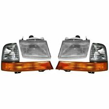 1998 1999 2000 FORD RANGER HEADLIGHTS AND CORNER LAMPS LIGHTS COMBO
