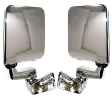 NEW Hinge Mounted Chrome Side View Mirror PAIR / FOR 87-02 JEEP WRANGLER