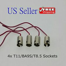 4x BA9S/T11 LED Light Bulb Socket Holder with wire connector for Car Truck