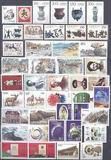 CHINA 1999 STAMP YEAR SET WITH SIX SOUVENIR SHEETS MNH VERY FINE