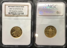 1987-W US Constitution $5 Gold Coin Comm. NGC MS70 ULTRA CAMEO-VAULT COLLECTION