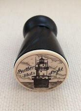 "Wine Vaccum Pump & Stopper with ""Scrimshaw"" Detail of Butler Flats Lighthouse"