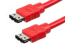 3 Ft 6 Gbps eSATA to eSATA External Serial ATA Data Cable Shielded - Red new